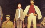 Описание картины виктора попкова «строители братска»
