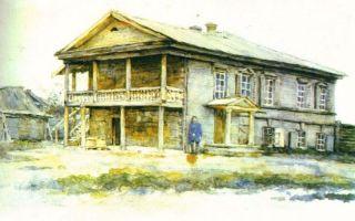 Описание картины василия сурикова «дом суриковых в красноярске»