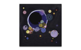 Описание картины василия кандинского «несколько кругов»