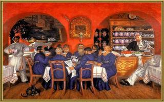 Описание картины бориса кустодиева «московский трактир»