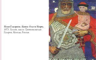 Описание картины ильи глазунова «князь олег и игорь»