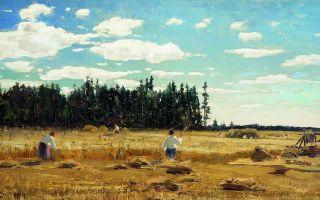 Описание картины юлия клевера «в поле»