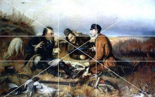 Описание картины василия перова «охотники на привале»