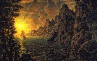 Описание картины константина богаевского «корабли. вечернее солнце»