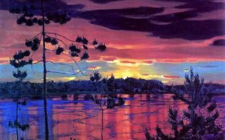 Описание картины аркадия рылова «закат»