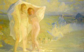Описание картины бориса кутодиева «купальщица»