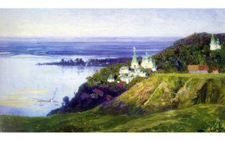 Описание картины василия поленова «монастырь над рекой»