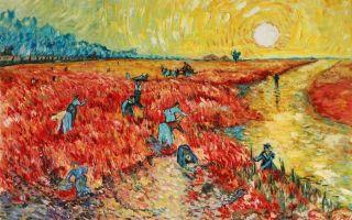 Описание картины винсента ван гога «красные виноградники в арле»
