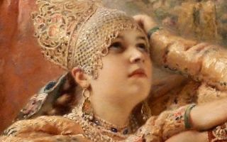 Описание картины константина маковского «женский портрет»