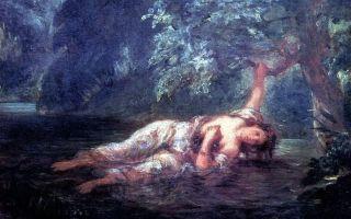 Описание картины эжена делакруа «смерть офелии»