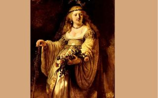 Описание картины рембрандта ван рейна «саския флора»