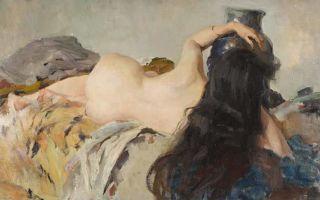 Описание картины валентина серова «натурщица»