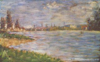 Описание картины жоржа сера «берег реки»