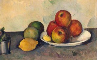 Описание картины поля сезанна «натюрморт с яблоками»