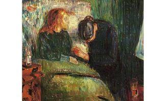 Описание картины эдварда мунка «больная девочка»