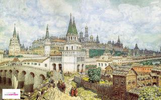 Описание картины аполлинария васнецова «расцвет кремля. всехсвятский мост и кремль в конце xvii века»