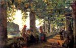 Описание картины сильвестра щедрина «веранда, обвитая виноградом»