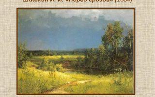 Описание картины ивана шишкина «перед грозой»