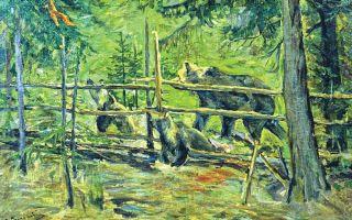 Описание картины алексея степанова «медведь»