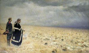 Описание картины василия верещагина «побежденные. панихида»