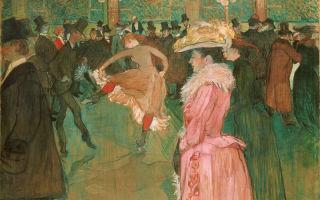 Описание картины анри тулуз-лотрека «танец в мулен руж»