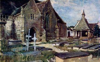 Описание картины александра бенуа «кладбище»