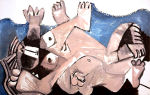 Описание картины пабло пикассо «любовники»