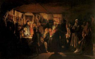 Описание картины василия максимова «приход колдуна на крестьянскую свадьбу»