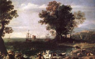 Описание картины клода лоррена «похищение европы»