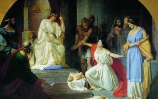 Описание картины николая ге «суд царя соломона»