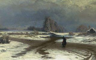 Описание картины федора васильева «зима»