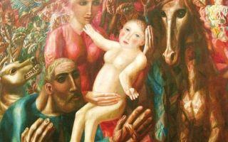 Описание картины павла филонова «крестьянская семья»