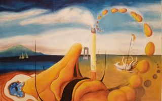 Описание картины сальвадора дали «телефон-омар»