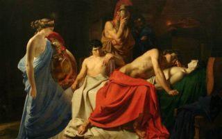 Описание картины николая ге «ахиллес оплакивает патрокла»