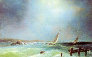 Описание картины алексея боголюбова «морской вид»