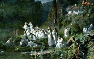 Описание картины ивана крамского «русалки» (майская ночь)