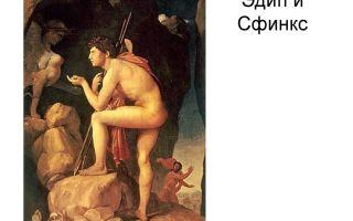Описание картины жана огюста энгра «эдип и сфинкс»