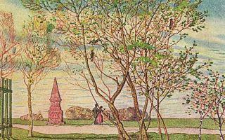 Описание картины константина сомова «весна»