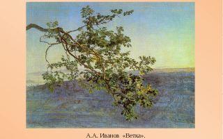 Описание картины александра иванова «ветка»