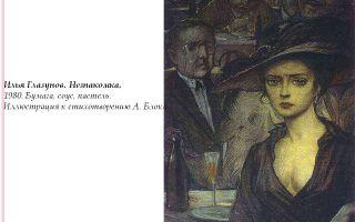 Описание картины ильи глазунова «незнакомка»