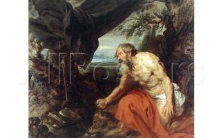 Описание картины энтони ван дейка «святой иероним»