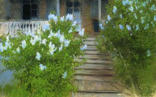 Описание картины исаака левитана «весна. белая сирень»