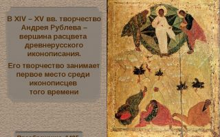 Описание иконы андрея рублева «преображение господне»