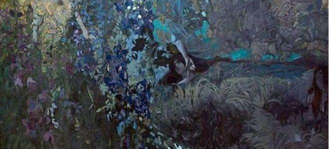 Описание декоративного панно михаила александровича врубеля «философия»