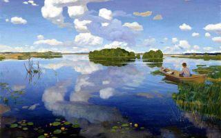 Описание картины григория бобровского «озеро»