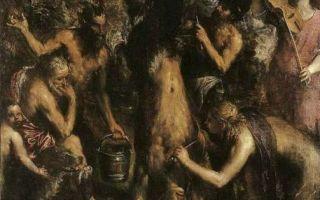 Описание картины тициана вечеллио «наказание марсия»