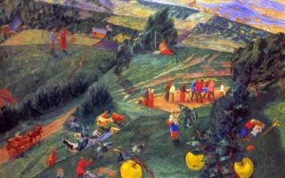 Описание картины кузьмы петрова-водкина «весна»