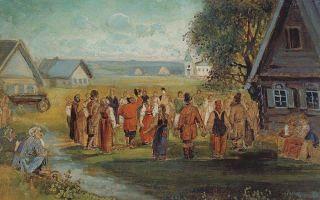 Описание картины алексея саврасова «хоровод в селе»