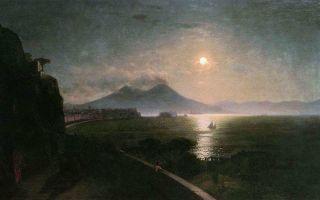 Описание картины ивана айвазовского «везувий»