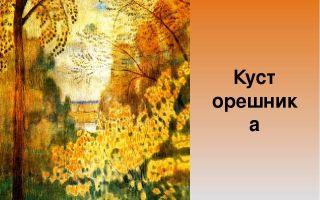 Описание картины виктора борисова-мусатова «куст орешника»